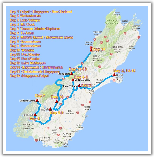 【2006。紐西蘭蜜月行】(02) 。Day 0。行程規劃