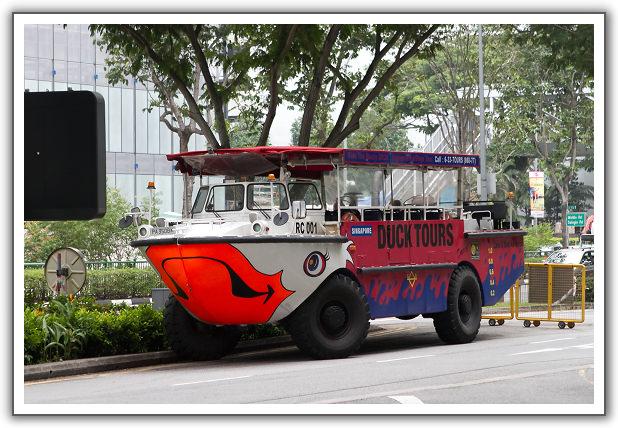 【2014‧新加坡親子遊】(08)。Day 2。鴨子船(Duck Tours)。摩天輪