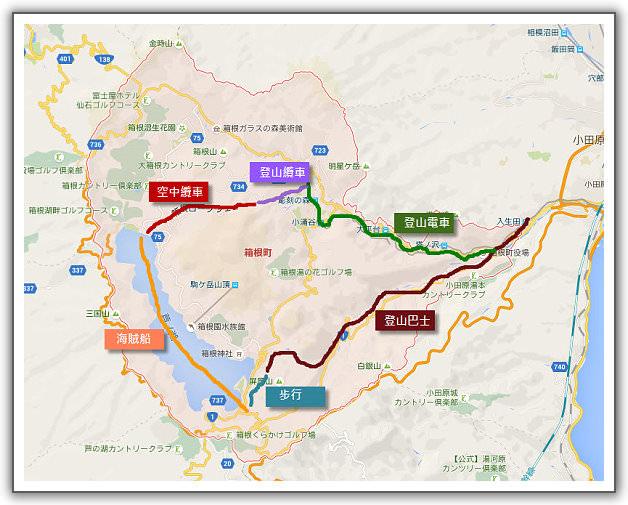 【2014‧東京箱根河口湖】(12)。Day 3。箱根。登山電車、登山纜車、空中纜車、大涌谷